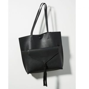 Anthropologie Thoma tote and clutch in black